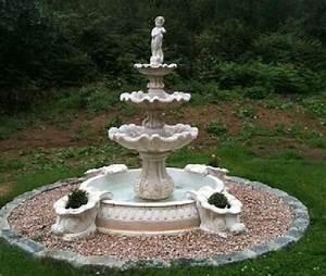 Fontaine D Exterieur En Pierre : fontaine exterieur en pierre 4bacs a fleurs a au jardin ~ Premium-room.com Idées de Décoration