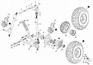 Hammerhead 150cc Suspension Arm Assembly