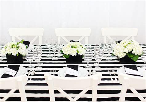 striped black and white tablecloth black and white color scheme evite