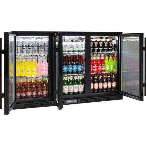 bar fridge bench glass 3 door commercial bar fridge with lg