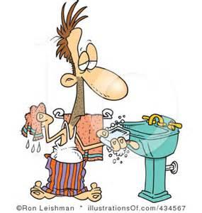 Cartoon Hand Washing Clip Art