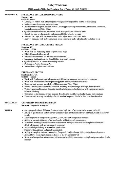 Resume Editor by Freelance Editor Resume Sles Velvet