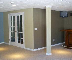 basement pole wraps jack post lally column covers  elite trimworks