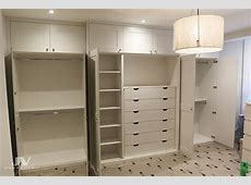Built in wardrobes around chimney breast JV Carpentry