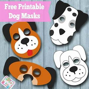 Printable dog mask free template dog mask mask template for Dog mask template for kids