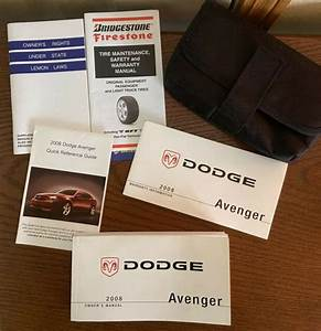 2008 Dodge Avenger Owners Manual Guide Book With Case Oem