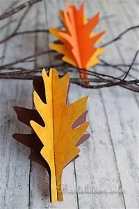 Blätter Basteln Herbst : basteln mit papier herbst und halloween 3 d blaetter ~ Lizthompson.info Haus und Dekorationen