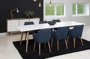 Table à Manger Blanche : table manger avec rallonge blanc laqu marzo mobilier priv ~ Teatrodelosmanantiales.com Idées de Décoration