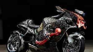 Full HD Wallpaper motorcycle tuning bone skull demonic