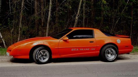 1992 Pontiac Firebird Trans Am Gta Specifications