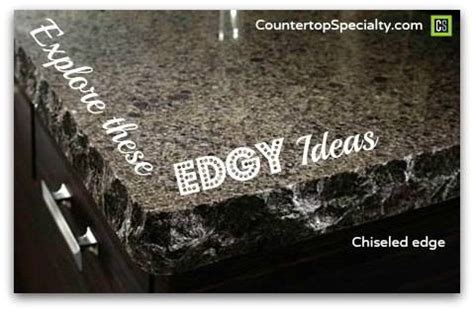countertop edges for granite silestone and corian