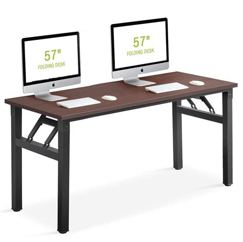no assembly required desk computer desk tribesigns 57 inch folding office desk
