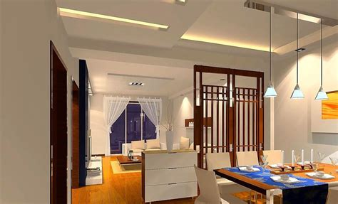 orange dining room ceiling and lighting design 3d house