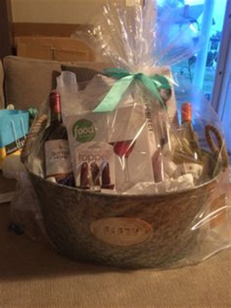 create small gift baskets with wine chocolate for your