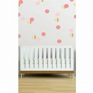 confetti wall decals in coral love wall accent walls With the best accent white polka dot wall decals