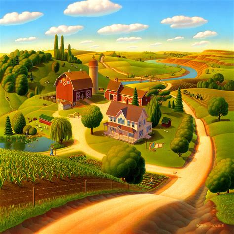 Summer On The Farm Painting by Robin Moline
