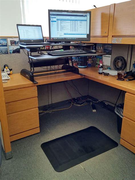 standing desk lift mechanism varidesk pro plus standing desk review the gadgeteer