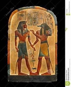 Pharaoh And Anubis. Egyptian Palette. Stock Photo - Image ...