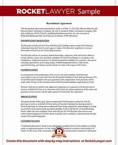 Recruiter agreement recruitment contract agreement for Recruitment contract template