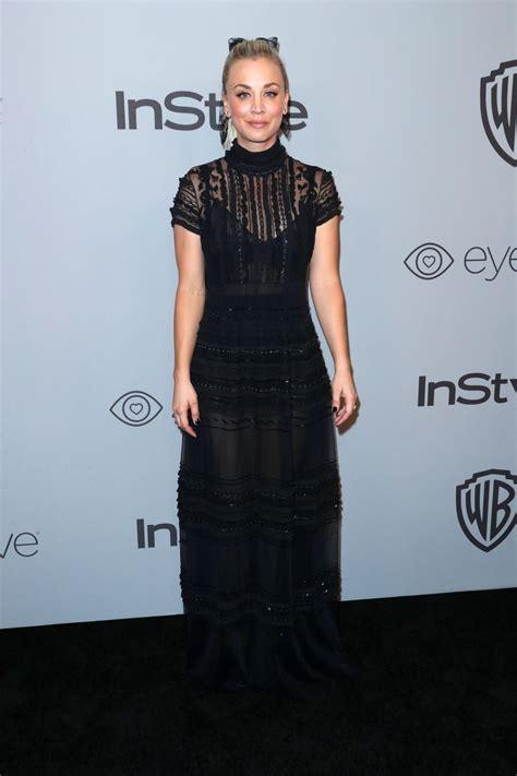 Kaley Cuoco Instyle Warner Bros Golden Globes After