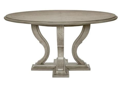 La Phillippe Reclaimed Wood Grey Round Dining Table