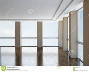 Leerer Raum Mit Fenstern Stock Abbildung Illustration Von