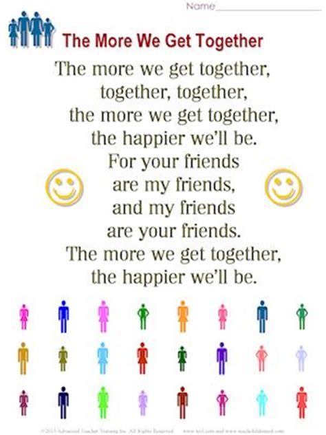 best 25 preschool friendship activities ideas on 722 | 64dddc3645b703dc95bca01dd7959120 preschool poems kindergarten songs