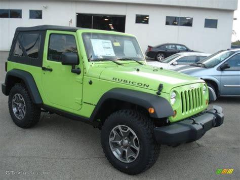 green jeep rubicon 2013 gecko green jeep wrangler rubicon 4x4 71744749 photo