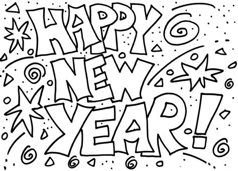 Kleurplaat Happy New Year by Happy New Year Coloring Pages Best Coloring Pages For