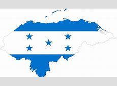 Clipart Honduras Map Flag