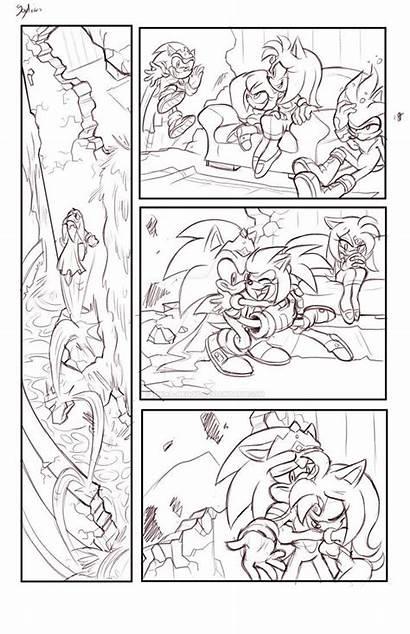 Sonic Sonamy Amy Dibujos Shira Morning Rescue