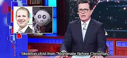 Trump Colbert Eric Stephen