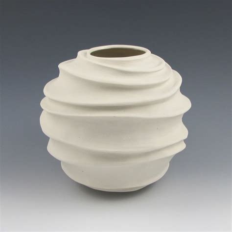 judi tavill ceramics creamy white porcelain carved modern