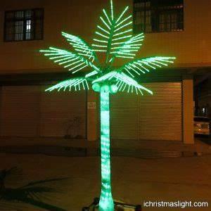 Outdoor lit trees LED coconut tree wholesale