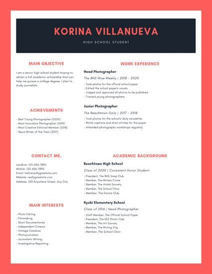 green simple high school resume templates by canva