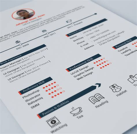 Graphic Design Resume Template Indesign by Print Ready Resume Template