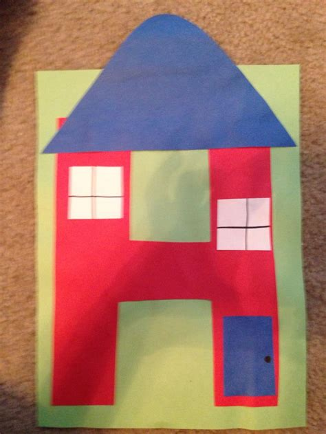 house letter  crafts alphabet crafts