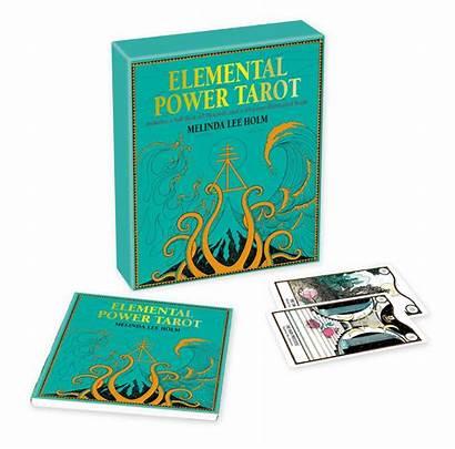 Elemental Tarot Power Books Melinda Lee Cards