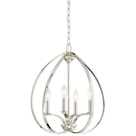 minka lavery tilbury  light polished nickel pendant