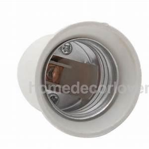 E to candelabra ceiling fan light socket holder