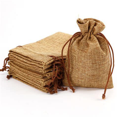 sachet dragees toile de jute 20 10 x pochette toile de jute 14x9cm poche sac sachet pour bijoux drag 233 e faveur ebay