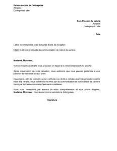 modele lettre depart retraite carriere longue lettre de demande du relev 233 de carri 232 re d un salari 233 par l