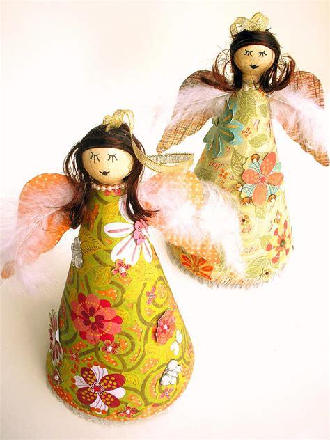 easy christmas craft decoupage angels hgtv