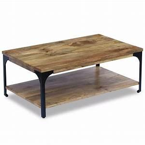 Table Basse Bois Pas Cher : acheter vidaxl table basse bois de manguier 100 x 60 x 38 ~ Carolinahurricanesstore.com Idées de Décoration