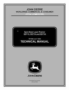 John Deere Sst15  Sst16  Sst18 Lawn Tractor Tm1908 Pdf