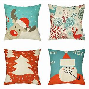 18 x 18 inch christmas decorative throw pillow covers on With christmas pillows on sale