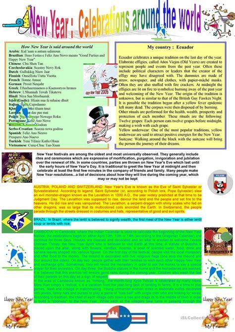 year celebrations   world worksheet