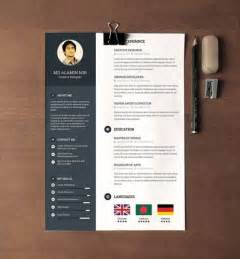 28 Minimal Creative Resume Templates Psd Word Ai