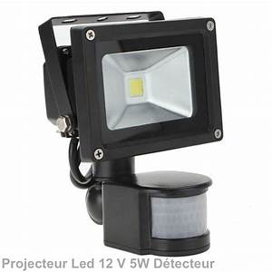 Projecteur Led 12v : projecteur ext rieur led 5w 12v dc d tecteur ip 67 ~ Edinachiropracticcenter.com Idées de Décoration
