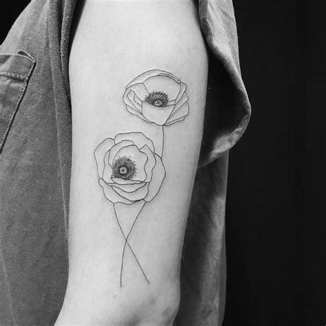idees tatouage coquelicot  champ de  modeles